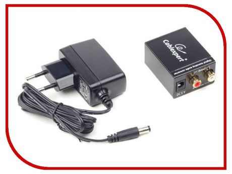 Цифровой конвертер Gembird Cablexpert 1xRCA (Coaxial)/1xToslink - 2xRCA audio (L/R) DSC-OPT-RCA-001