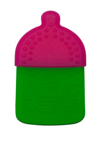 Прорезыватели Adiri Bottle Teething Ring Magenta-green