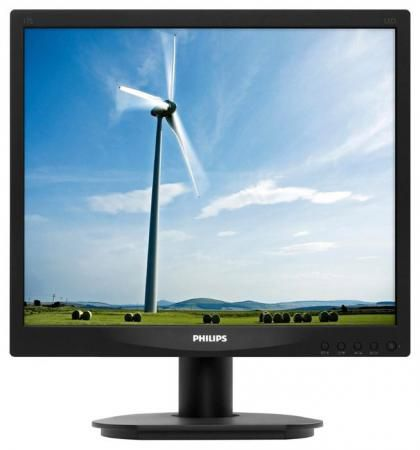 "Монитор 17"" Philips 17S4LSB/00(01) черный TN 1280x1024 250 cd/m^2 5 ms DVI VGA"