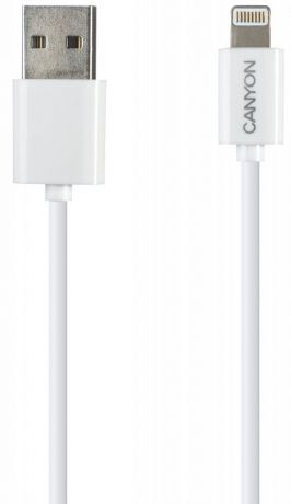 Кабель Canyon CNE-CFI1 Apple 8pin 1м (белый)