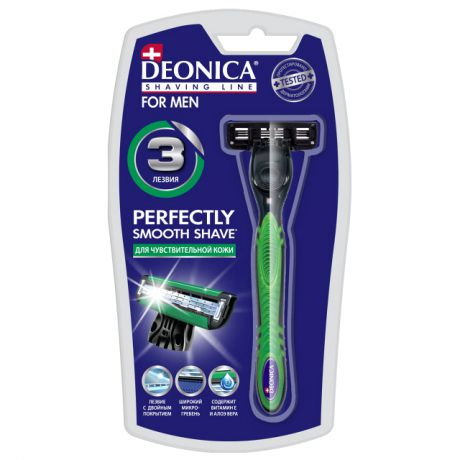 станок д/бритья DEONICA For Men 3 лезвия + 1 кассета