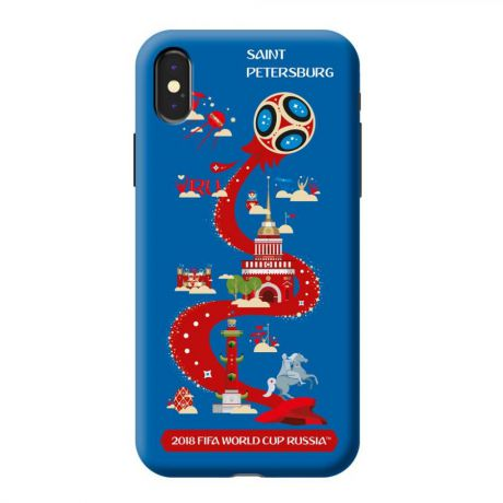 Чехол TPU для Apple iPhone X, FIFA_Saint Petersburg, Deppa