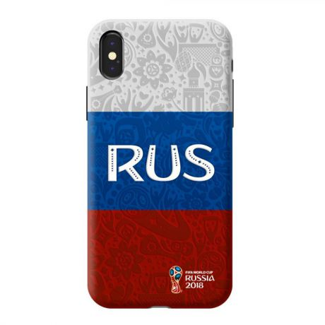 Чехол PC для Apple iPhone X, FIFA_Flag Russia, Deppa