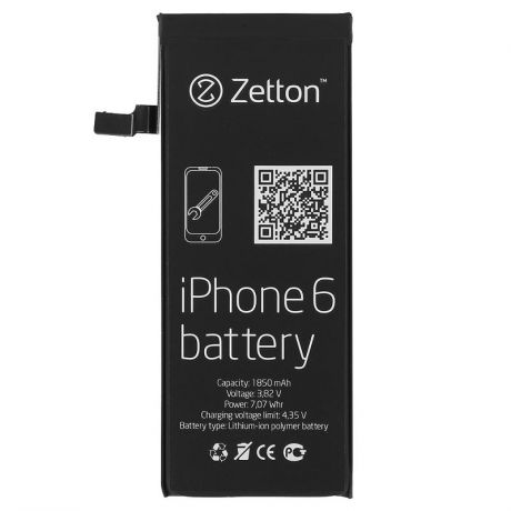 Аккумулятор Zetton ZTBATI6 для Apple iPhone 6, 1850 mAh, Li-ion
