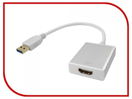 Цифровой конвертер Greenconnect Greenline USB 3.0 AM HDMI 19F White GCR-U32HD2
