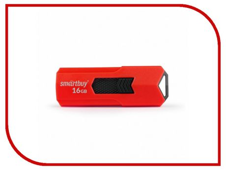 USB Flash Drive 16Gb - SmartBuy Stream Red SB16GBST-R3
