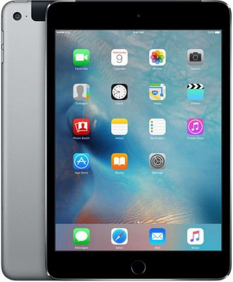 Планшет Apple iPad mini 4 128 GB Wi-Fi + Cellular Space Gray (MK 762 RU/A)