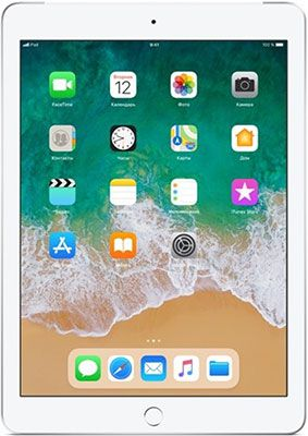 Планшет Apple iPad (2018) 32 Gb Wi-Fi + Cellular silver (MR6P2RU/A)