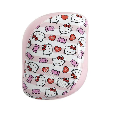 Расческа Hello Kitty Candy Stripes розовый (Tangle Teezer, Compact Styler)