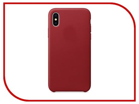 Аксессуар Чехол APPLE iPhone X Leather Case Product Red MQTE2ZM/A