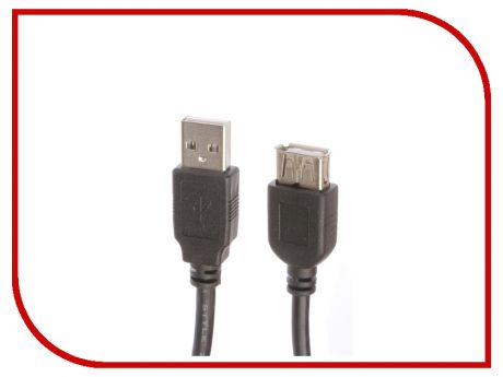 Аксессуар Greenconnect PRO USB 2.0 AM - AF 1m Black GCR-UEC3M-BD2S2F-1.0m
