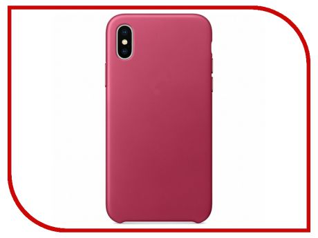 Аксессуар Чехол APPLE iPhone X Leather Case Pink Fuchsia MQTJ2ZM/A