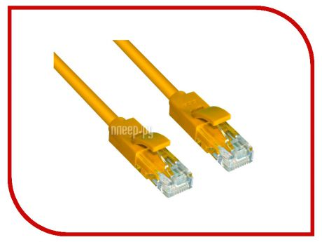 Сетевой кабель Greenconnect UTP 24AWG cat.5e RJ45 T568B 0.4m Yellow GCR-LNC02-0.4m