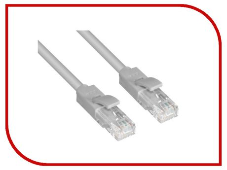 Сетевой кабель Greenconnect UTP 24AWG cat.5e RJ45 T568B 1.5m Grey GCR-LNC03-1.5m