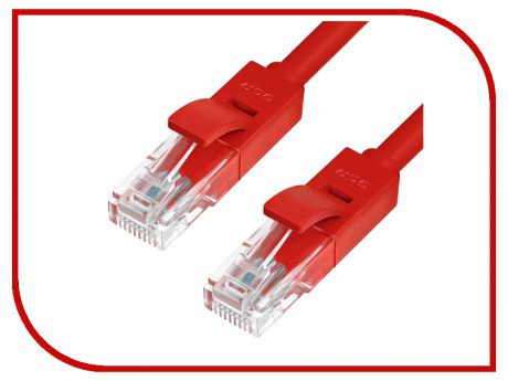 Сетевой кабель Greenconnect Premium UTP 30AWG cat.6 RJ45 T568B 0.5m Red GCR-LNC624-0.5m