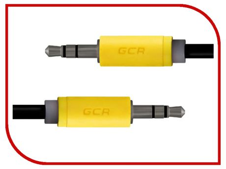 Аксессуар Greenconnect 3.5 Jack M - 3.5 Jack M 0.5m Black-Yellow GCR-AVC014-0.5m