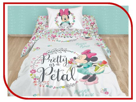 Постельное белье Disney Minnie Pretty As A Petal Комплект 1.5 спальный Ранфорс 712513