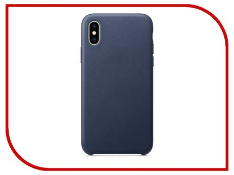 Аксессуар Чехол APPLE iPhone XS Leather Case Midnight Blue MRWN2ZM/A