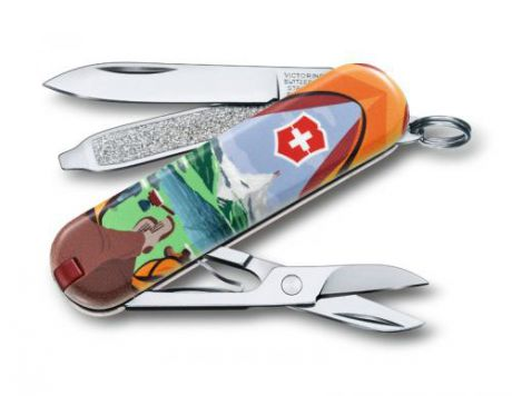 Нож-брелок VICTORINOX, Classic, Call of Nature, 7 функций