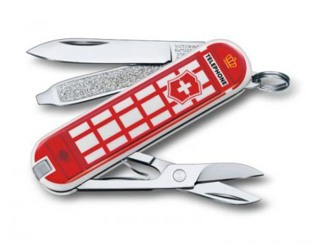 Нож-брелок VICTORINOX, Classic, A Trip to London, 7 функций