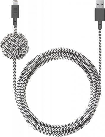 Кабель Native Union Night Cable Apple 8pin 3м (зебра)