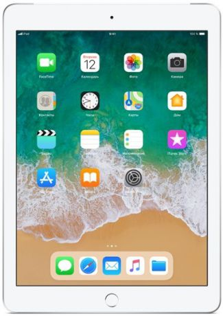 Планшет Apple iPad (2018) 128Gb Wi-Fi + Cellular (серебристый) MR732RU-A