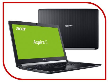 Ноутбук Acer Aspire A517-51G-5284 Black NX.GSXER.014 (Intel Core i5-8250U 1.6 GHz/8192Mb/1000Gb+128Gb SSD/DVD-RW/nVidia GeForce MX150 2048Mb/Wi-Fi/Bluetooth/Cam/17.3/1920x1080/Linux)
