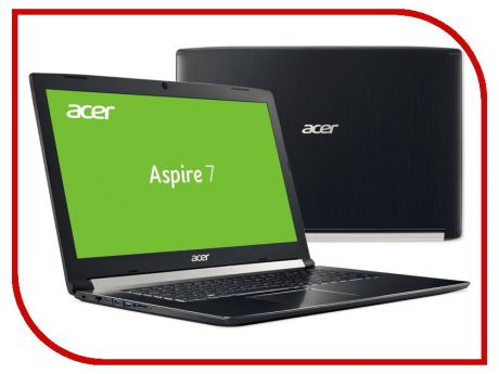 Ноутбук Acer Aspire A717-72G-77AM Black NH.GXEER.006 (Intel Core i7-8750H 2.2 GHz/8192Mb/1000Gb+128Gb SSD/nVidia GeForce GTX 1060 6144Mb/Wi-Fi/Bluetooth/Cam/17.3/1920x1080/Linux)