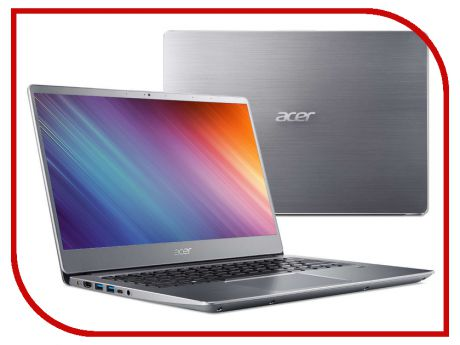 Ноутбук Acer Swift 3 SF314-54G-81P9 Silver NX.GY0ER.007 (Intel Core i7-8550U 1.8 GHz/8192Mb/256Gb SSD/nVidia GeForce MX150 2048Mb/Wi-Fi/Bluetooth/Cam/14.0/1920x1080/Linux)