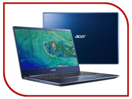 Ноутбук Acer Swift 3 SF314-54-50E3 Blue NX.GYGER.004 (Intel Core i5-8250U 1.6 GHz/8192Mb/256Gb SSD/Intel UHD Graphics 620/Wi-Fi/Bluetooth/Cam/14.0/1920x1080/Windows 10)