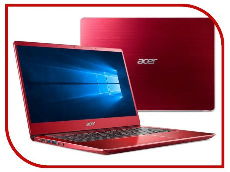 Ноутбук Acer Swift 3 SF314-54G-56GJ Red NX.H07ER.001 (Intel Core i5-8250U 1.6 GHz/8192Mb/256Gb SSD/nVidia GeForce MX150 2048Mb/Wi-Fi/Bluetooth/Cam/14.0/1920x1080/Windows 10)