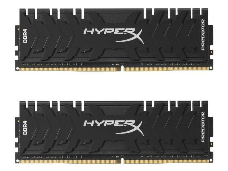 Модуль памяти DDR4 Kingston 8Gb KIT (4GbX2) 3200MHz HyperX PREDATOR Black Series CL16 [HX432C16PB3K2