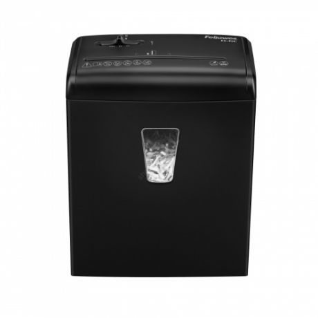 Шредер Fellowes PowerShred 6C, DIN P-4, 4х35мм, 6лст., 11лтр. ,уничт.: скобы,скр., пл.карты