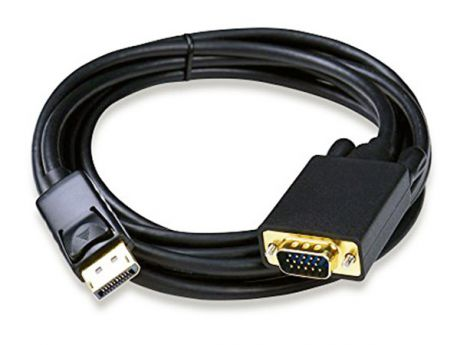 ORIENT C708, Кабель-адаптер DisplayPort M - VGA 15M, длина 1.8 метра, черный