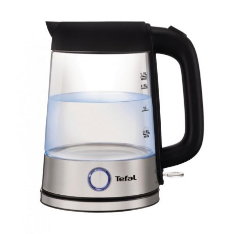 Чайник Tefal Glass Kettle KI750D 2400 Вт 1,7 л черный KI750D30