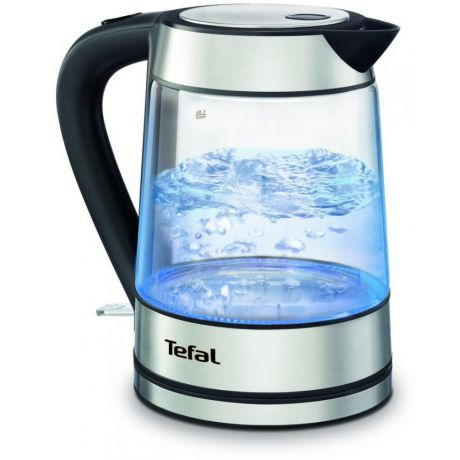 Чайник Tefal Glass Kettle KI730D 2200 Вт 1,7 л, черный KI730D30