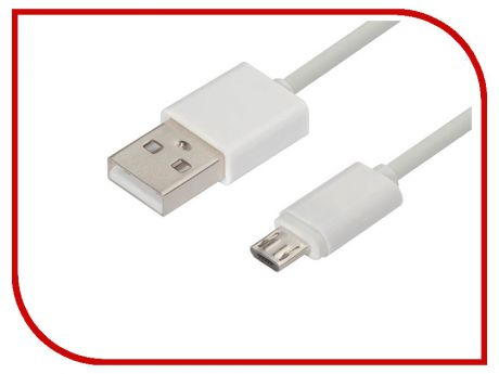 Аксессуар Greenconnect USB 2.0 AM - Micro B 5pin 2m White GCR-51133