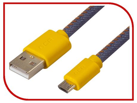 Аксессуар Greenconnect USB 2.0 AM - Micro B 5pin 1m Yellow-Blue GCR-50699