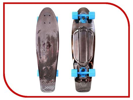 Скейт Y-SCOO Big Fishskateboard Metallic 27 Black Bronzat-Blue 402H-Bb