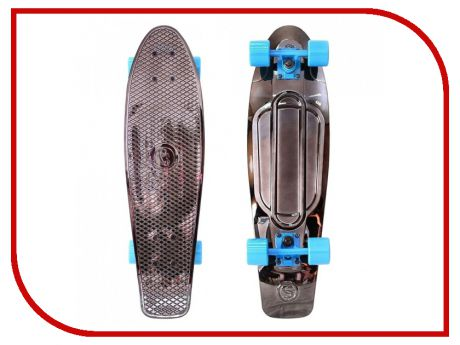 Скейт Y-SCOO Big Fishskateboard Metallic 27 Blue-Black