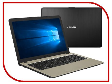 Ноутбук ASUS VivoBook X540MA-GQ064T Black 90NB0IR1-M03660 (Intel Celeron N4000 1.1 GHz/4096Mb/500Gb/Intel HD Graphics/Wi-Fi/Bluetooth/Cam/15.6/1366x768/Windows 10 64-bit)