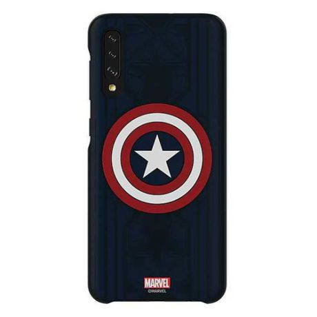 Чехол (клип-кейс) SAMSUNG Marvel Case Captain America, для Samsung Galaxy A50, синий [gp-fga505hiblw]