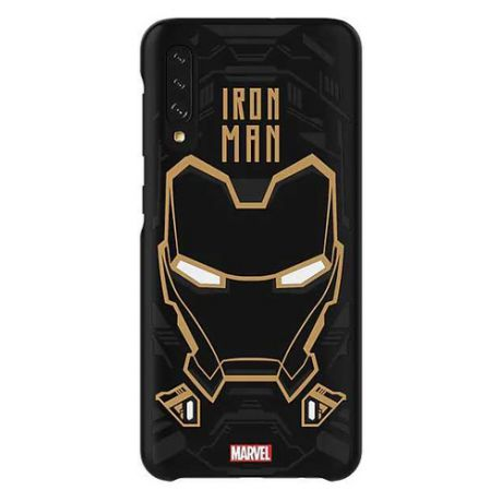 Чехол (клип-кейс) SAMSUNG Marvel Case Iron man, для Samsung Galaxy A50, черный [gp-fga505hibbw]