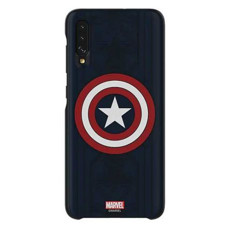 Чехол (клип-кейс) SAMSUNG Marvel Case Captain America, для Samsung Galaxy A70, синий [gp-fga705hialw]