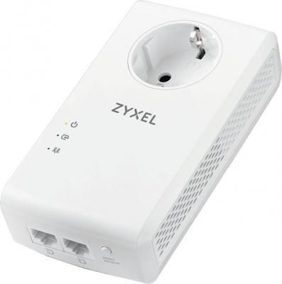 ZYXEL PLA5456 AV2000 MIMO Pass thru Powerline Gigabit Ethernet Adaptor Twin