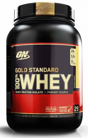 "Протеин Optimum Nutrition ""100% Whey Protein Gold Standard"", банан, 900 г"