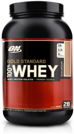 "Протеин Optimum Nutrition ""100% Whey Protein Gold Standard"", кофе, 900 г"