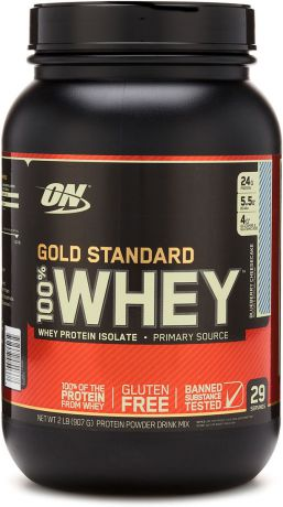"Протеин Optimum Nutrition ""100% Whey Protein Gold Standard"", чизкейк, 900 г"