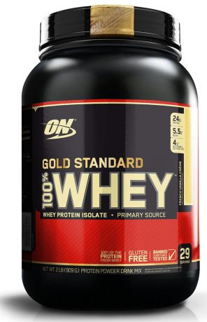 "Протеин Optimum Nutrition ""100% Whey Protein Gold Standard"", ваниль, 900 г"