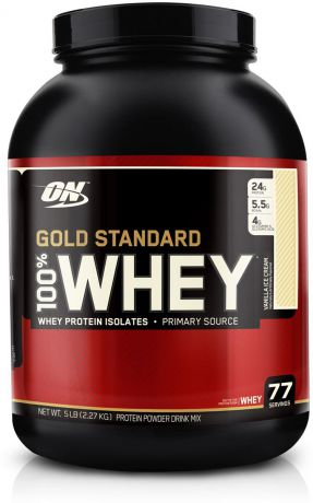 "Протеин Optimum Nutrition ""100% Whey Protein Gold Standard"", ваниль, 2,26 кг"
